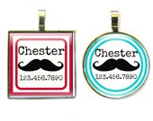 THE ORIGINAL Mustache Pet ID Tag-as seen in Every Dog Magazine