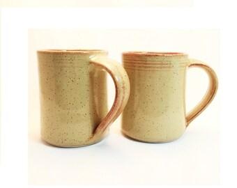 Set of 2 Handmade ceramic mugs, Sahara glaze