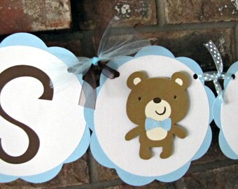 Teddy Bear Party Banner, Teddy Bear Happy Birthday Banner, Teddy Bear Baby Shower Banner, Teddy Bear 1st Birthday, Bear Baby Shower, Boy
