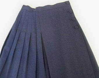 Vintage Clothing Skirt Purple Women's Mini Kilt Made in USA Size 4 petite Talbot's
