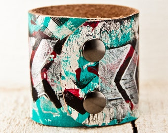 Leather Cuffs Jewelry - Tattoo Cover Original Bracelets Wristbands Wrist Cuff