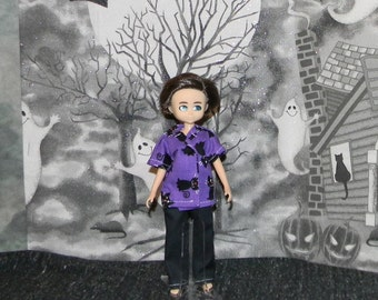 FINN-14) Finn doll clothes, 1 pants and shirt set (halloween)
