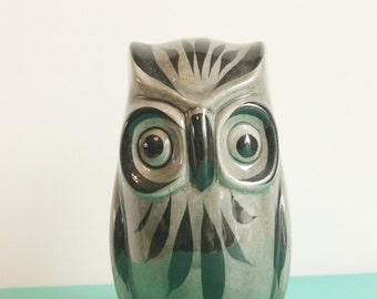 Vintage ceramic hand painted owl figurine