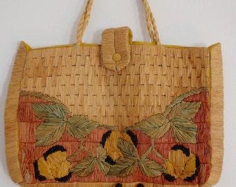 Wicker Purse Bag Vintage Handbag