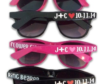 Ring Bearer Gift - Flower Girl Gift - Ring Bearer & Flower Girl Sunglasses - Child Size Sunglasses - Personalized Sunglasses