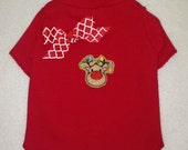We Believe Reindeer With Christmas Lights Dog TShirt Clothes Size XXXS through Medium by Doogie Couture
