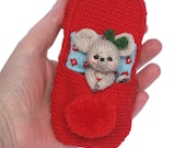 Little Mouse Sleeping in a Slipper