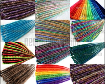 Custom set single ended synthetic dread extensions - 1 individual dreadlock