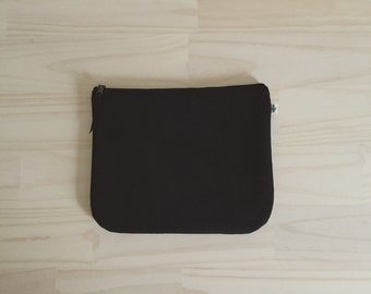 Black Clutch, Fold Over Vegan Clutch in Black