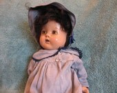 Sweet  [and kind of Creepy] 1930's Doll in good condition