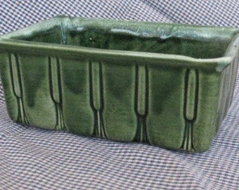 Mid Century Planter - Green - USA - 1940's