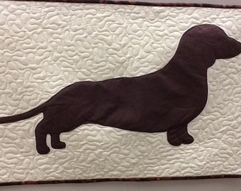 Big Weiner Dog Quilted Wallhanging
