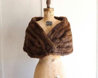 vintage 50s 60s rabbit fur stole