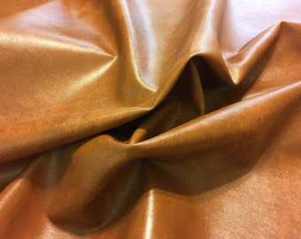 Faux Leather Vinyl Rust Yardage
