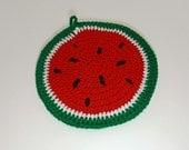 Crochet Watermelon Pot Holder