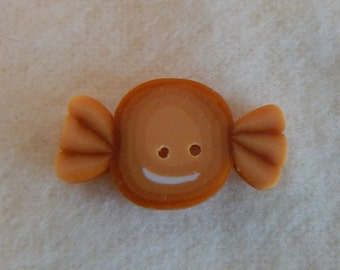 Butterscotch Candy Polymer Clay Button