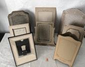 Fancy Cardboard Folding Photo Frames...Lot of 8...Wedding Table Number Holders...Keepsake Photos...Lot #1