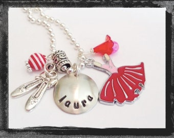Ballet Necklace - Personalized Jewelry - Ballerina Necklace - I could have DANCED ALL NIGHT #D35