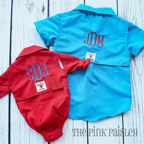 Baby fishing shirt monogram fishing shirt toddler fishing for Toddler fishing shirts