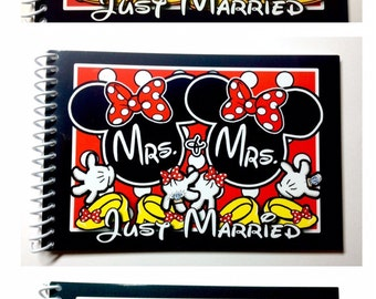 Disney Autograph Book - Disney Album - Same SEX Wedding - Just Married - PRIDE - Gay Lesbian LGBT Wedding Book - Mr and Mr - Mrs and Mrs