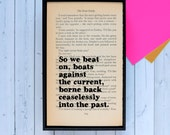 Great Gatsby Quote - The Great Gatsby - Framed Quote - Great Gatsby - Gatsby Home Decor - Framed Gatsby Print - Book Lover - Book Art