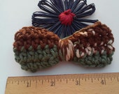 Brown Bow / Bows / Crochet Bow / Applique / Craft Bows / Yarn Bows / Craft Supply /