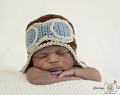 Baby Pilot Hat, Baby Aviator Hat, Pilot Beanie, Earflap Aviator Hat
