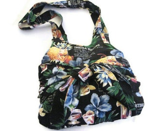 Black Sarong Print Bag Summer Handbag