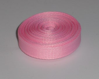 Pink 3/8 inch Solid Grosgrain Ribbon 10 yards