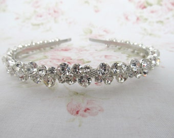 Crystal Rhinestone Bridal Headband,Bridal Accessories,Wedding Accessories,Crystal Wedding Hairband,Bridal Headpiece,#H8
