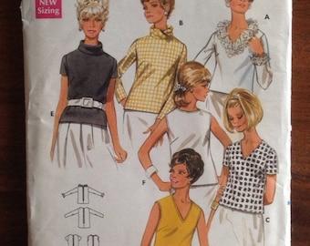 Mod 60s Blouses Butterick 4881  • size 14