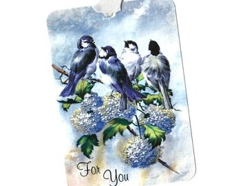 Tags, Bird Gift Tags, Hydrangea, For You, Gift Tags, Bird Lover, Party Favors