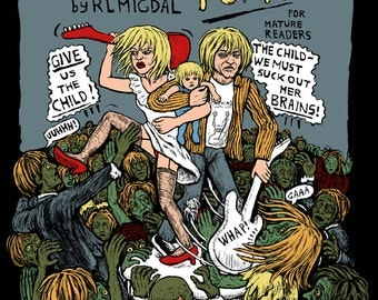"""Zombie Punk No 1 Comic in full color 8.25x11.7"""" by Rebecca Migdal"""