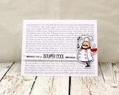 Cooking Themed Birthday Card, Chef Birthday Card, Punny Birthday Card, Super Cool Birthday Card, For the Cook,  Cooking Birthday Card