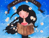 Amas Veritas Practical Magic Art Print, Enchanted Girl Art
