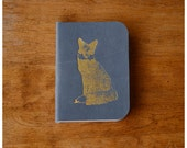 Mini Notebook - Blue Leather Pocket Size Notebook -  Field Notes Mini Leather Journal - Fox Journal