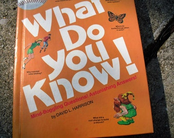 Vintage Book What Do You Know Children's Question and Answer Book by David Harrison