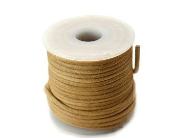 Tan Leather Cord 2mm, 10 Meters,   Leather   Necklace Cord,   Leather-JC21