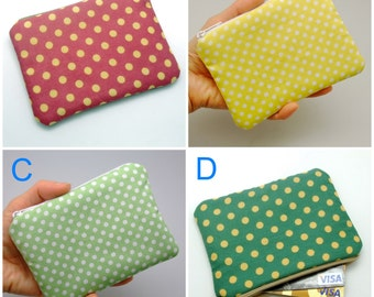 BIG SALE - Small zipper pouch / coin purse /ear phone bag/ card holder (padded) (GP4)