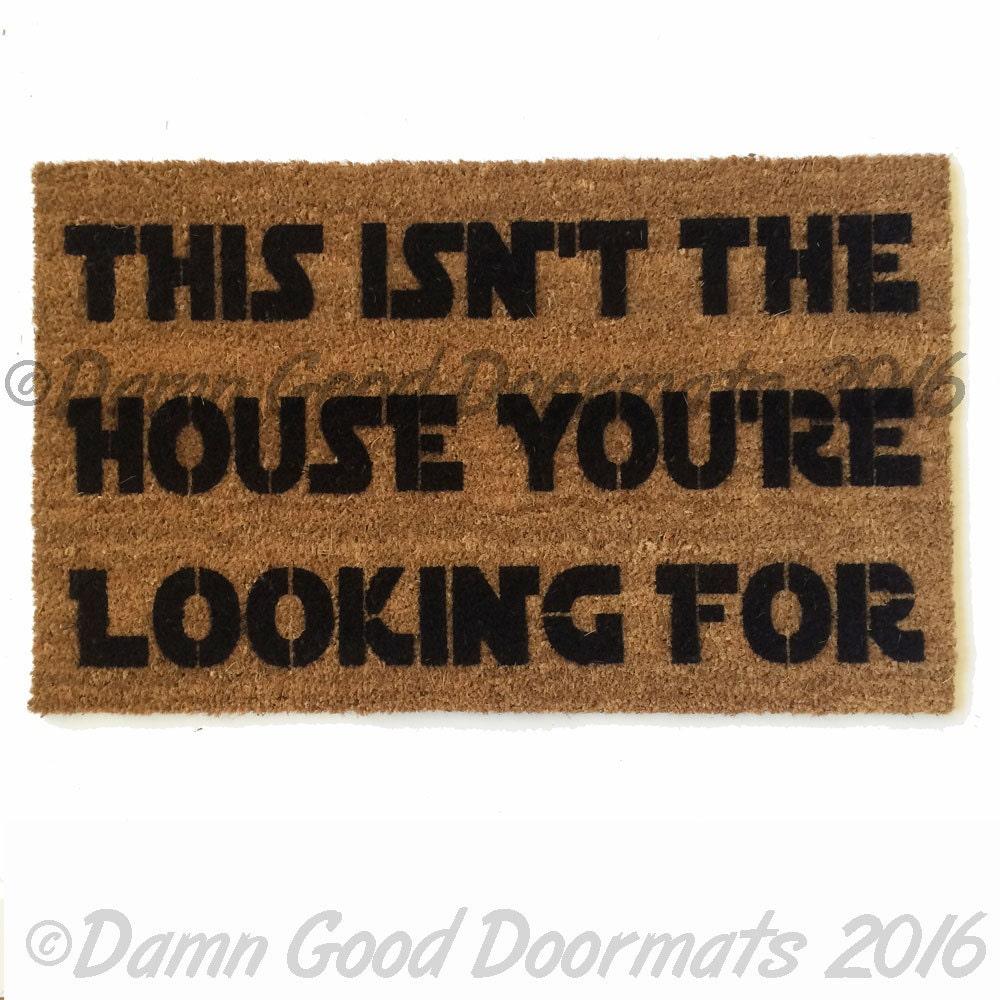 Welcome you are mat star wars outdoor geek nerd buzzfeed - Geeky welcome mats ...