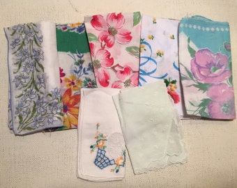 7 assorted hankies