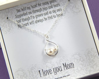 Mother Of The Bride Necklace,Mother of the Bride Necklace Gift,  Mother of the Bride Gift Box Necklace,Mother of Bride Gift, Wedding gift
