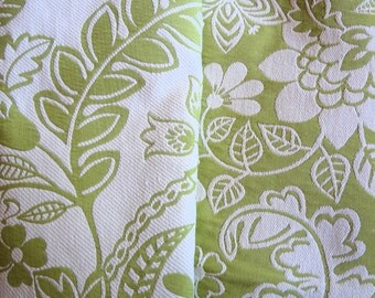 "Floral Print, Matelassé Fabric Remnant, 58"" wide,Upholstery. Cushions, Pillows, Bags, Crafts Use. Ready to Ship. Free Shipping."
