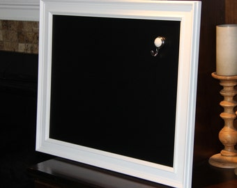 Large, Vintage, White, Framed, Magnetic Chalkboard Weddings/Home/Restaurants (20 1/2 x 25 1/2 inches)
