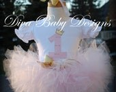Pink and gold or mint and gold girls birthday outfit 1st 2nd 3rd 4th 5th 6th birthday dress fluffy poofy tutu Personalize with any age/name