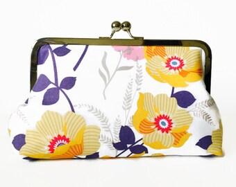 Floral Clutch, bridesmaid clutch, wedding, birthday, bridal party gift, destination wedding