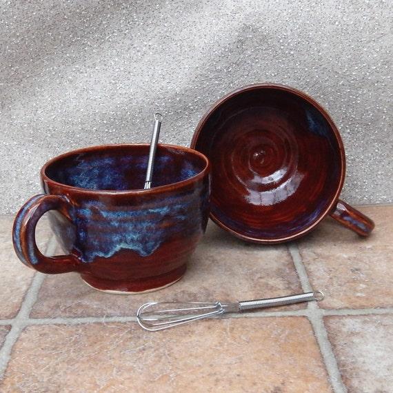 Hot chocolate or soup mug handthrown stoneware  tea coffee