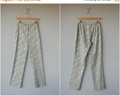 50% OFF CLEARANCE... Vintage 1990s Pants | Vintage High Waisted Trousers | Gray Pants | Holiday Pants | Evening Pants