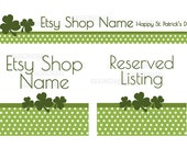 St Patrick's Day Etsy Banner Set - Saint Patricks Day Etsy Banners - Etsy Banners - Etsy Shop Banners - 3 Piece Set - 2