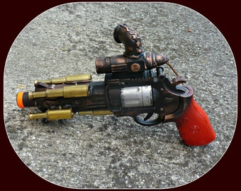 Steampunk gun cyber goth flintlock display stand Victorian pirate VAMPIRE ZOMBIE man